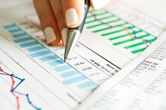 Monitoring Of Stock Index Reports. Stock Images
