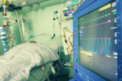 Monitoring of the patient Stock Photo