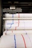Monitoring printing machine Royalty Free Stock Photos