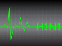 Monitoring swine flu virus. Vector illustration Stock Photos