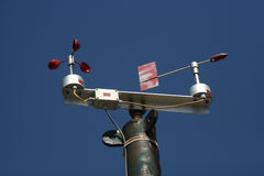 Monitoring Weather. Weather vane and anemometer (weather station Stock Image