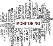 Monitoring - word cloud Stock Photography