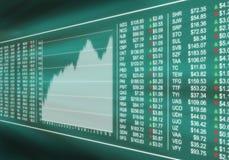 Monitorować rynek papierów wartościowych Zdjęcie Royalty Free