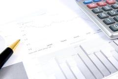 monitorowanie biznesowi raporty Zdjęcia Stock