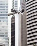 Monitorowanie kamery na ulicach zdjęcia stock