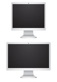 Monitors. The modern monitors on a white background Stock Photos