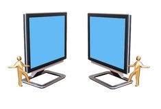 Monitors. For your text or images Royalty Free Stock Photos