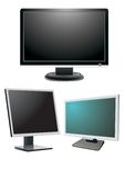 Monitors. For computer and tv Stock Image