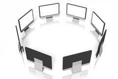 Monitors in circle ... Royalty Free Stock Image