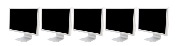 Monitors of computers. A over white background Stock Images