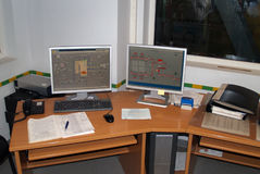 Monitors control at power plants Stock Photography