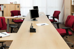 Monitors on the desks Royalty Free Stock Photography