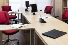 Monitors on the desks Royalty Free Stock Photo