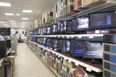 Monitors Displayed In Shelves Stock Image