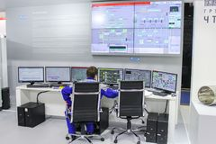 Monitors an intelligent control system. Royalty Free Stock Photo