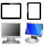 Monitors and  ipad Royalty Free Stock Images