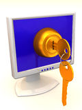 Monitors with keys Royalty Free Stock Image