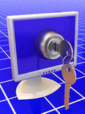 Monitors with keys Stock Photography