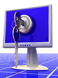 Monitors with keys Stock Photo