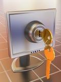 Monitors met sleutels Stock Afbeelding