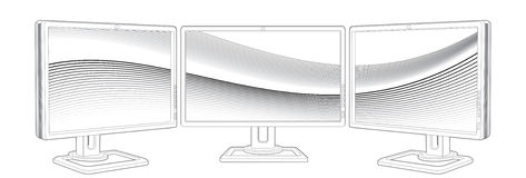 Monitors multisystem Royalty Free Stock Images