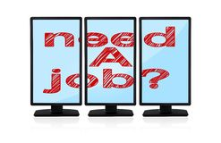 Monitors with need a job Stock Images