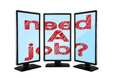 Monitors with need a job Royalty Free Stock Image
