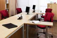 Monitors On The Desks Stock Photography