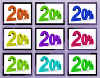20 On Monitors Shows Savings And Bonuses. 20% On Monitors Shows Savings And Bonuses Stock Images