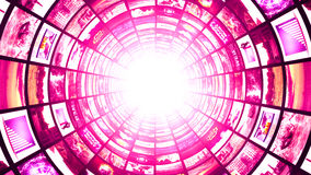 Monitors Tunnel, Technology Abstract Computer Graphics Background Royalty Free Stock Photo