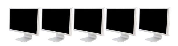 Monitors van computers vector illustratie