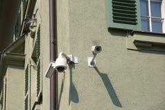 Monitorujący domu kąt fotografia royalty free