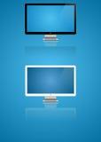 monitory dwa Zdjęcia Stock