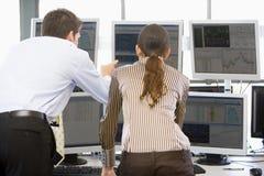 monitory zaopatrują handlowów przeglądać obraz royalty free