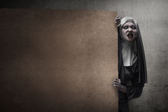 Monja asustadiza del diablo Foto de archivo