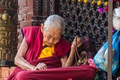 Monja budista foto de archivo libre de regalías