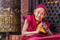Monja budista Imagen de archivo libre de regalías