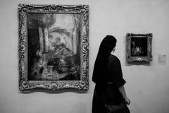Monja en el EL Parado fotos de archivo libres de regalías