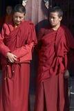Monjas tibetanas Foto de archivo libre de regalías