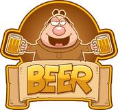 Monje Beer Label de la historieta libre illustration