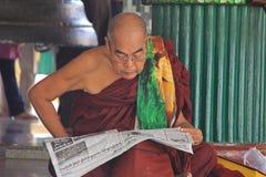 Monje budista Fotografía de archivo libre de regalías