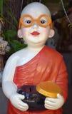 Monje budista Charity Box Imagenes de archivo