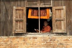 Monje budista de Myanmar Imagen de archivo
