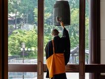 Monje budista japonés Foto de archivo libre de regalías