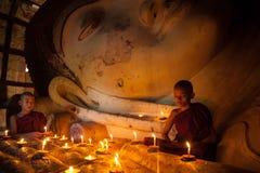 Monje budista joven del neófito Fotografía de archivo