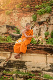Monje budista joven del novato Imágenes de archivo libres de regalías