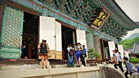Monje budista Temple en Gwangju foto de archivo