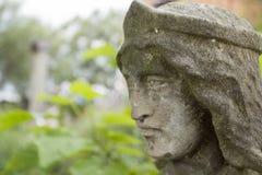 Monje de piedra de la escultura de la cara Foto de archivo