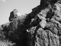 Monje de rogación, Camelback Mt , Scottsdale, AZ Fotografía de archivo