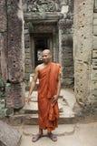 Monje en Camboya Foto de archivo libre de regalías